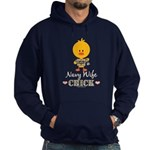 Proud Navy Wife Chick Hoodie (dark)