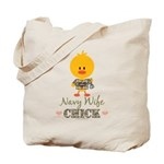 Proud Navy Wife Chick Tote Bag