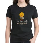 Proud Air Force Wife Chick Women's Dark T-Shirt