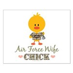 Proud Air Force Wife Chick Small Poster