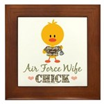 Proud Air Force Wife Chick Framed Tile