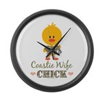 Coast Guard Wife Chick Large Wall Clock