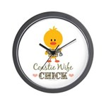 Coast Guard Wife Chick Wall Clock