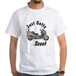 Just Gotta Scoot Burgman White T-Shirt