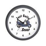 Just Gotta Scoot Burgman Wall Clock