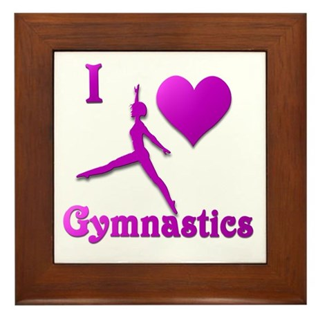 I Love Gymnastics #8 Framed Tile