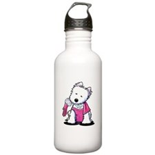 Westie Material Girl Water Bottle