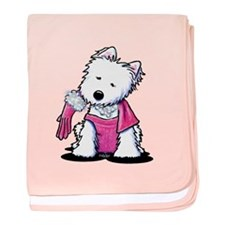 Westie Material Girl Infant Blanket