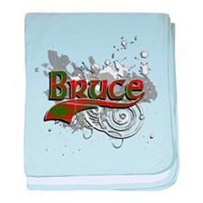 Bruce Tartan Grunge baby blanket