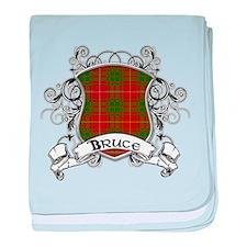 Bruce Tartan Shield baby blanket