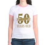 Certified 50 Years Old Jr. Ringer T-Shirt