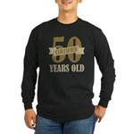 Certified 50 Years Old Long Sleeve Dark T-Shirt
