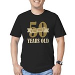 Certified 50 Years Old Men's Fitted T-Shirt (dark)