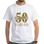 Certified 50 Years Old White T-Shirt