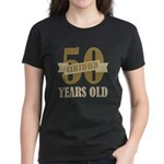 Certified 50 Years Old Women's Dark T-Shirt