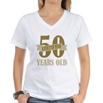 Certified 50 Years Old Women's V-Neck T-Shirt