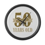 Certified 50 Years Old Large Wall Clock