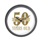 Certified 50 Years Old Wall Clock