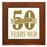 Certified 50 Years Old Framed Tile