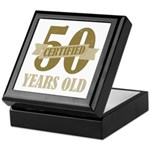 Certified 50 Years Old Keepsake Box