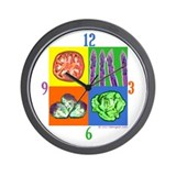 Mod Veggies Wall Clock