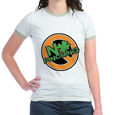 No Pinching Shamrock Jr. Ringer T-Shirt
