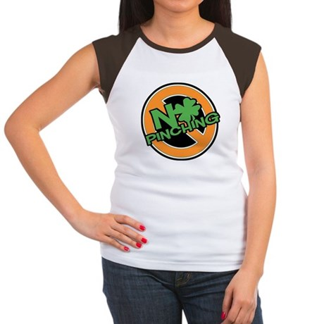 No Pinching Shamrock Women's Cap Sleeve T-Shirt