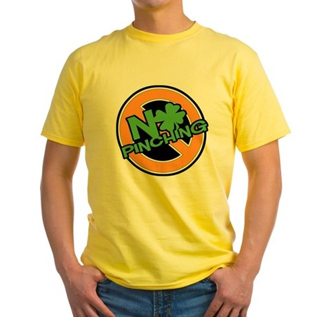 No Pinching Shamrock Yellow T-Shirt