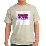 Democrats SUCK Ash Grey T-Shirt