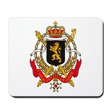Belgium Coat of Arms Mousepad