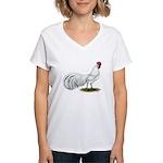 Phoenix White Rooster Women's V-Neck T-Shirt