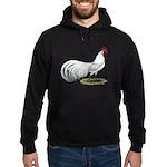 Phoenix White Rooster Hoodie (dark)