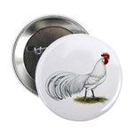 """Phoenix White Rooster 2.25"""" Button"""