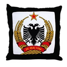Albanian Coat of Arms Throw Pillow