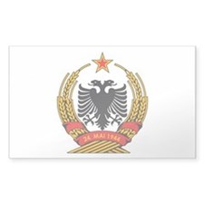 Albanian Coat of Arms Rectangle Decal