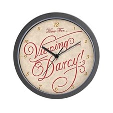 Time For Viewing Darcy Wall Clock