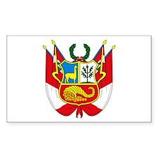Peru Coat of Arms Rectangle Decal
