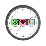 Peace Love Nurse Wall Clock