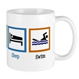 Eat Sleep Swim Small Mug