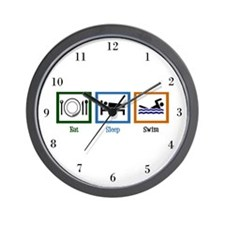 Eat Sleep Swim Wall Clock