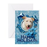 Christmas - Blue Snowflakes Greeting Card