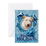 Christmas - Blue Snowflakes Greeting Cards (Pk 10