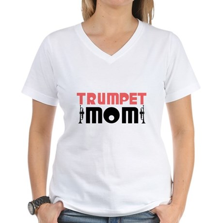 Trumpet Mom Women's V-Neck T-Shirt