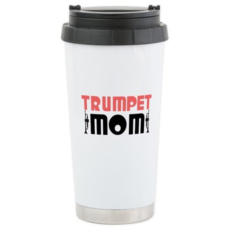 Trumpet Mom Ceramic Travel Mug