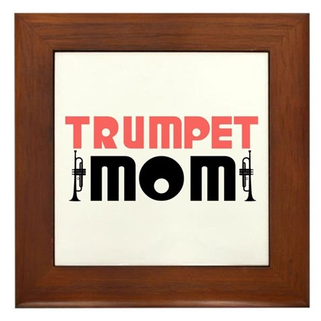 Trumpet Mom Framed Tile