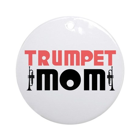 Trumpet Mom Ornament (Round)
