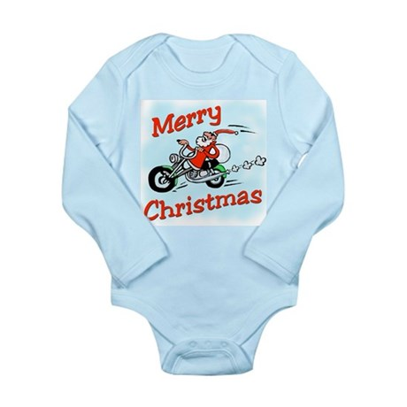 Motorcycle Santa Long Sleeve Infant Bodysuit