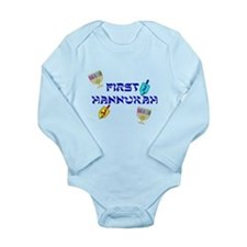First Hannukah Long Sleeve Infant Bodysuit