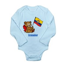 Ecuador Teddy Bear Long Sleeve Infant Bodysuit