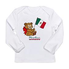 Mexico Teddy Bear Long Sleeve Infant T-Shirt